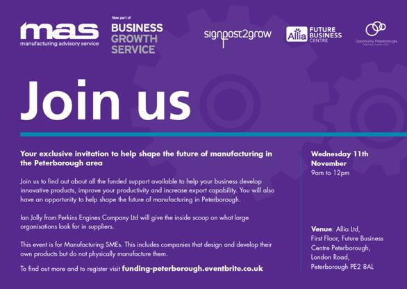 Shaping the Future of Peterborough Manufacturing - Opportunity